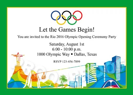 Olympic Birthday Party Invitations Printable Cogimbous - Olympic party invitation template