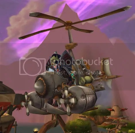 Gebeorgan above Nagrand in his flying machine