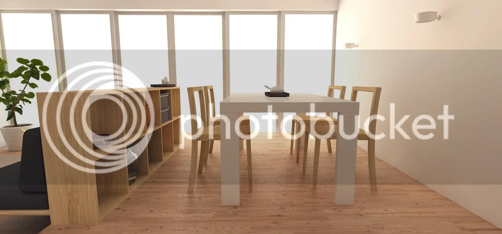 Dining room moddesign for Japanese minimalist room