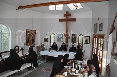 Visitors at the Monastery