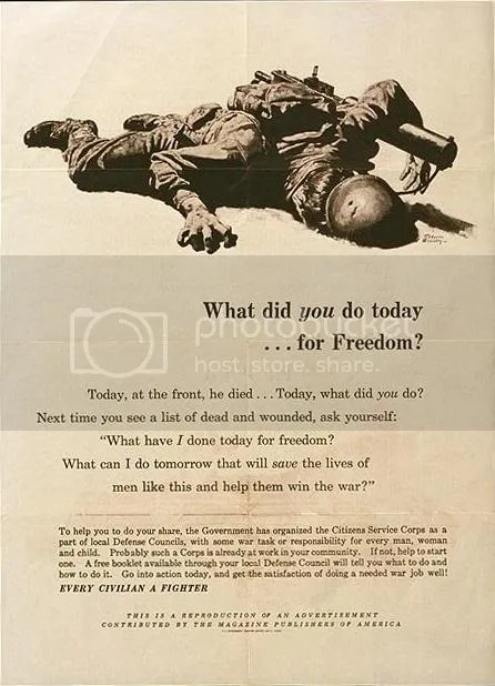 What Did You Do Today . . . For Freedom