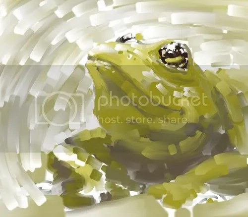 Frog done in Painter
