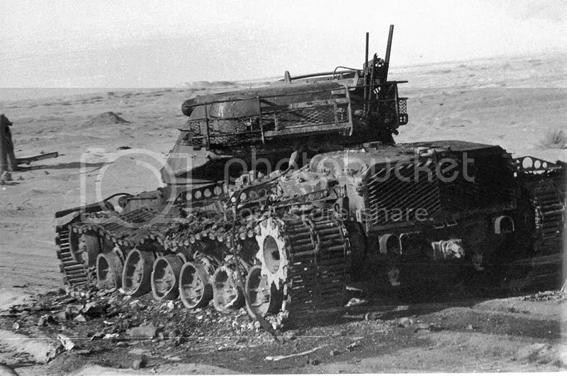 Tanque Patton destruido durante la guerra del Yom Kippur