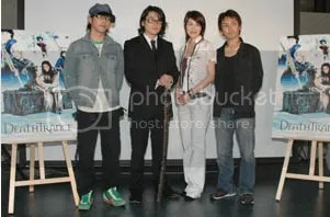 From left: Suga, Sakaguchi, Takeuchi, and director Shimomura