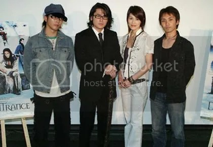 From left: Suga Takamasa, Tak Sakaguchi, Takeuchi Yuhki, Shimomura Yûji