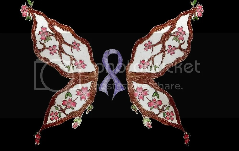 FAVORITE.jpg Dogwood Butterfly Lavender Ribbon Tattoo
