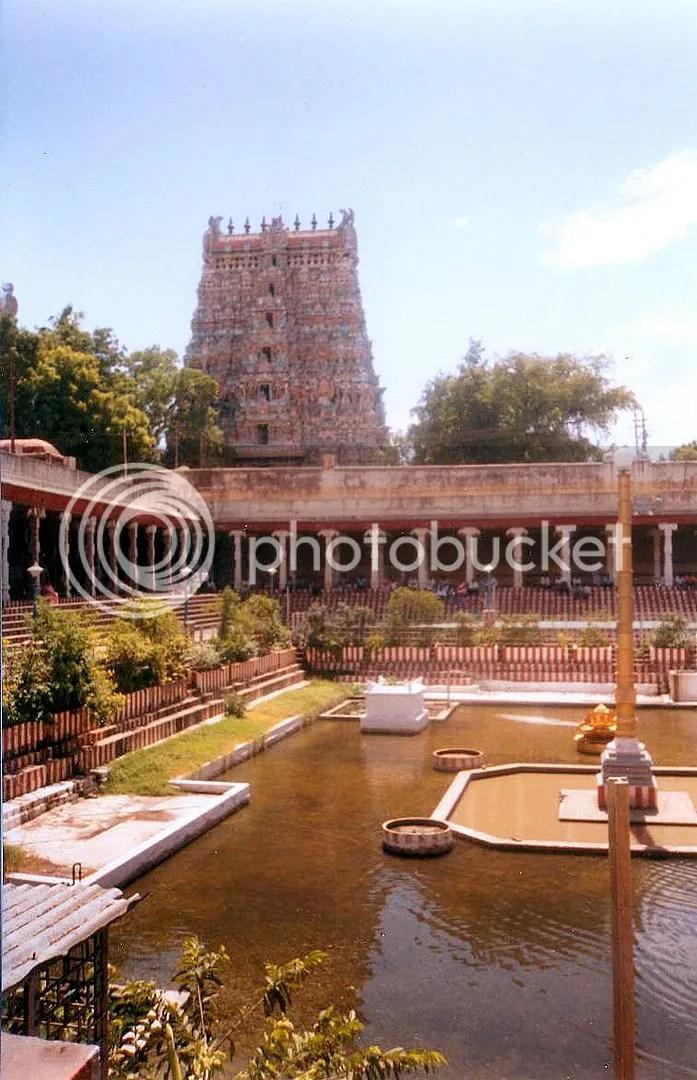 From Inside Meenakshi Temple, view of Eastern Goupuram