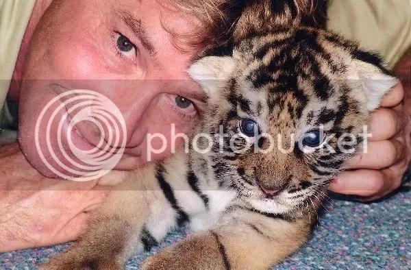 Steve Irwin & baby tiger