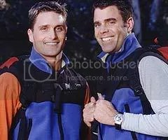 during AMAZING RACE 4 with then-partner Chip Arndt