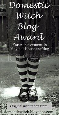 The domestic witch blog award