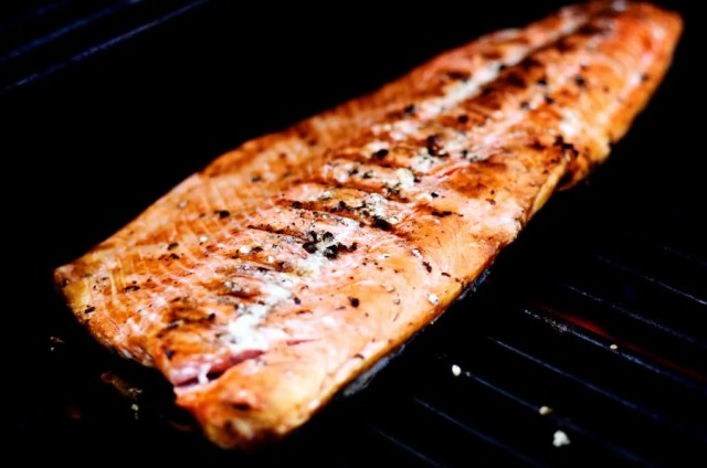 grilled sockeye wild salmon