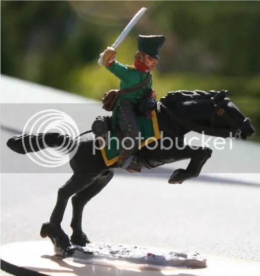 Prussian Feldjäger on jumping horse