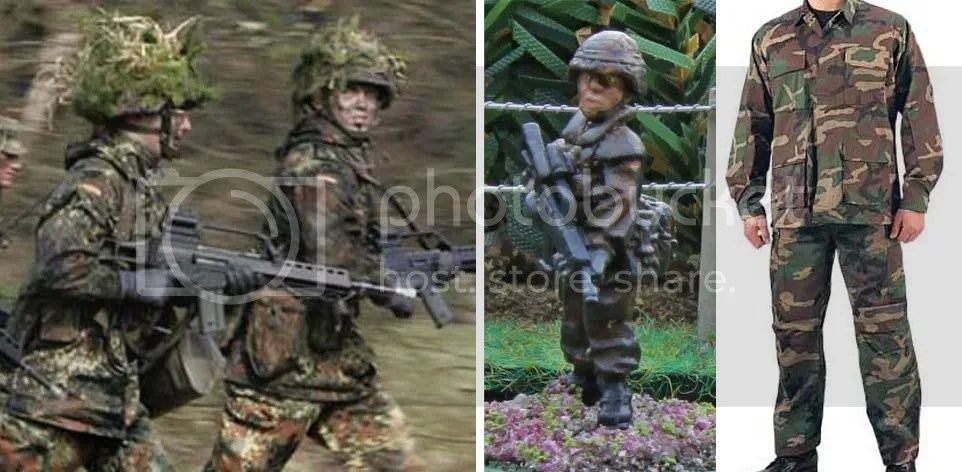 Real life Flecktarn | Minis in Flecktarn | Woodlands BDU