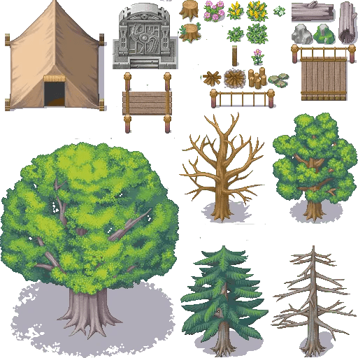XP to VX/Ace Forest Tiles