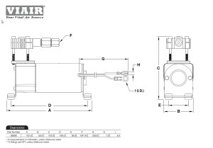 Viair 90C Compressor Kit PN 00090 With External Check Valve 120PSI Load Support | eBay