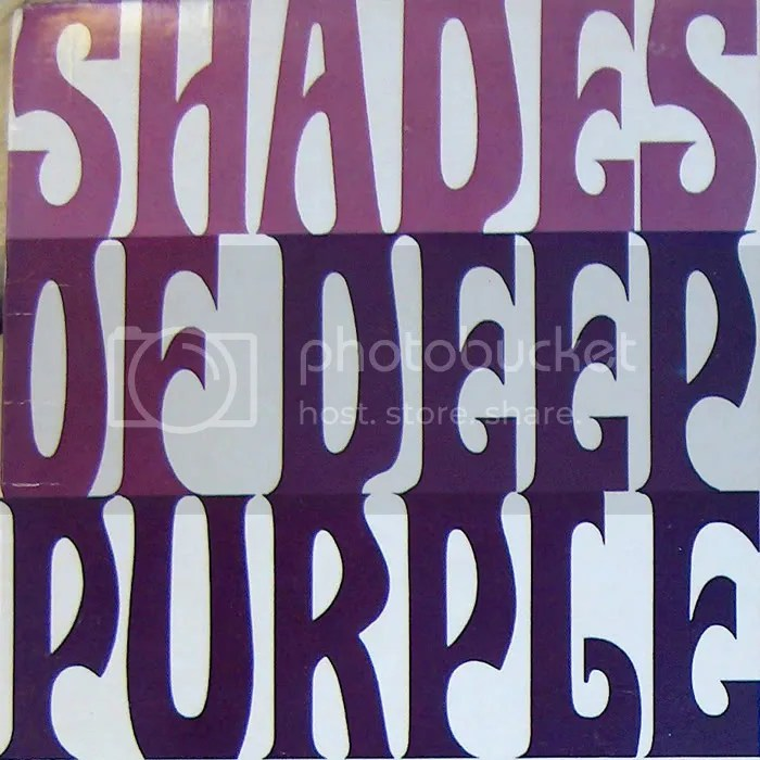 Shades of Deep Purple Typography