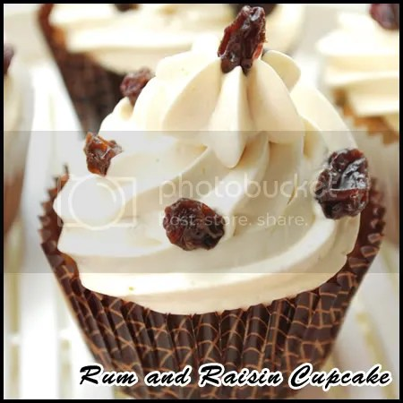 Rum and Raisin Cupcake