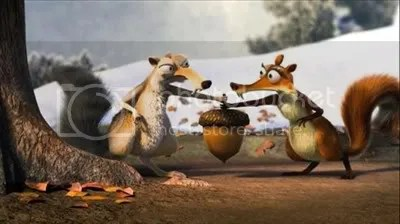 Scrat and his Girlfirend in Ice Age 3 Movie