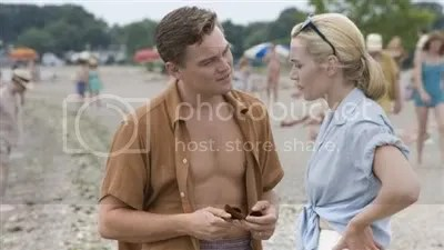 Kate Winslet and Leonarod Di Carprio on the beach - Revolutionary Road