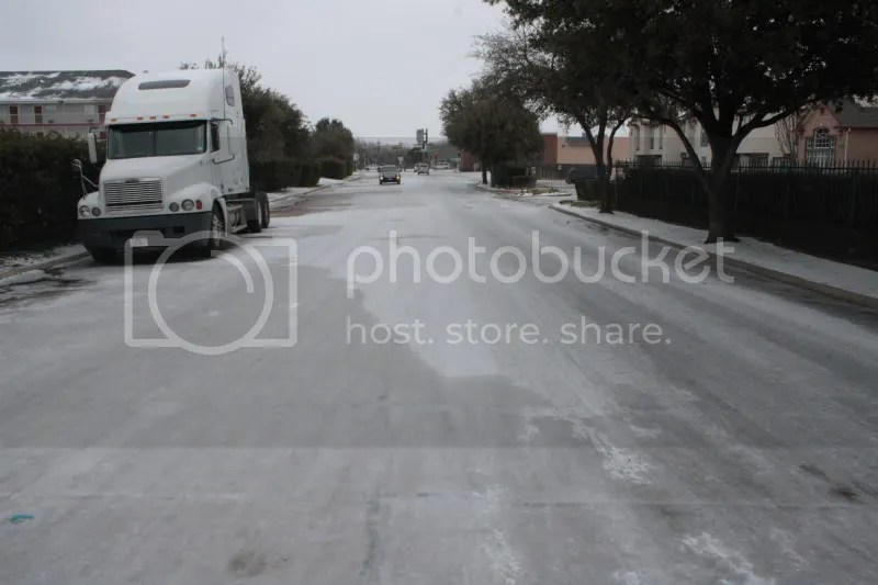 Multi-layered powdered death covers the street