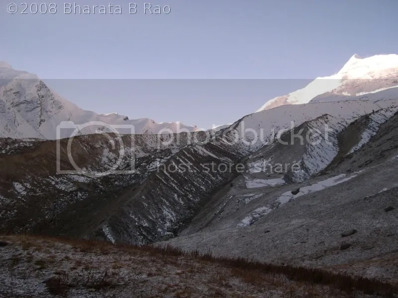 Auden's Col as seen from Rudragaira BC