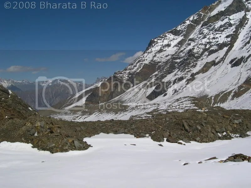 A view of the route back from Col ABC
