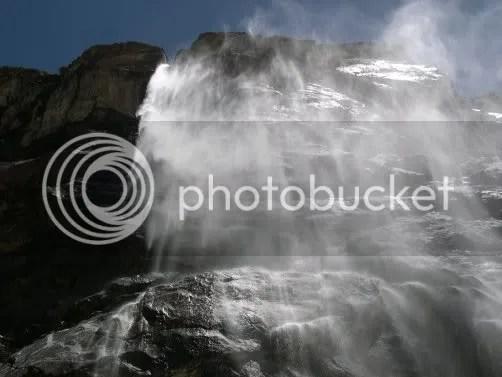 Vasudhara falls - closeup view