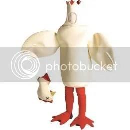 Headless Chicken Halloween Costume
