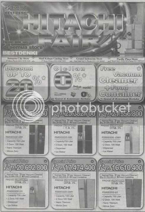 Promo Hitachi di Best Denki