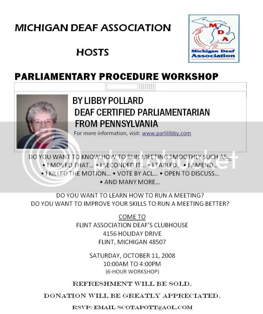 Parliamentary Procedure Workshop