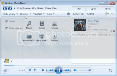 Skin Windows Media Player 12 dành cho Winamp