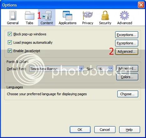 Không cho Firefox tự động thay đổi kích thước (resize) cửa sổ