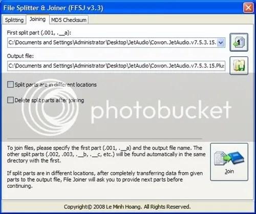 Cắt và nối các file dạng .001, .002, .003,... hay  .__a,  .__b,  .__c,...
