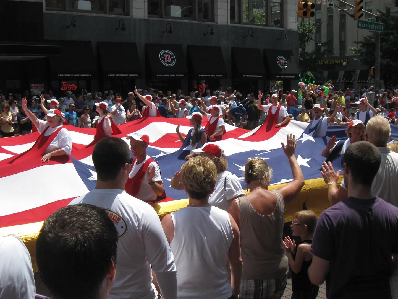 500 Festival Parade 2012 flag