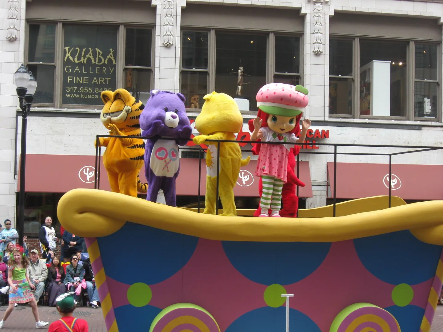 Garfield, Care Bears, Strawberry Shortcake, 500 Festival Parade 2013, Indianapolis