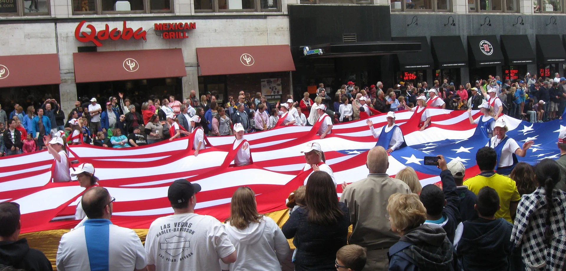 OneAmerica Walking Flag, 500 Festival Parade 2013, Indianapolis