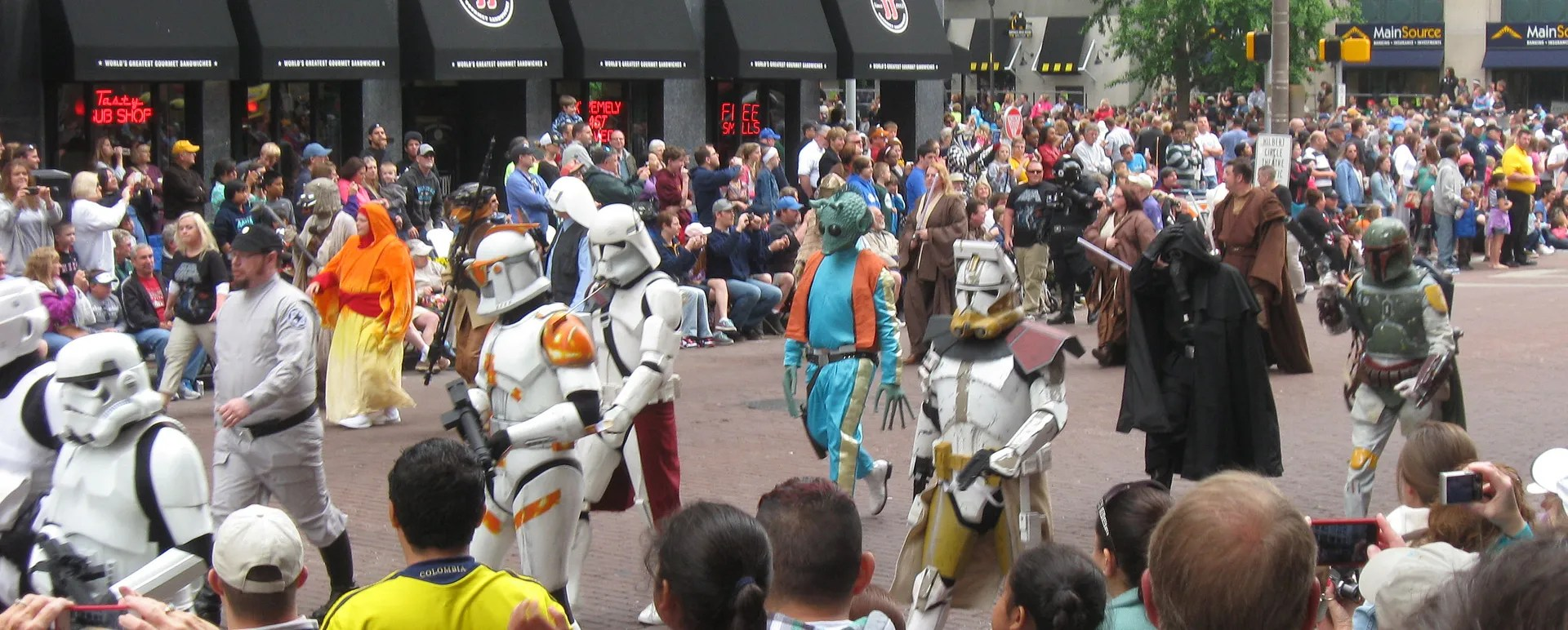 Clonetroopers, bounty hunters, Star Wars, 500 Festival Parade 2013, Indianapolis
