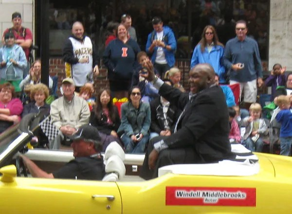 Windell Middlebrooks, TV, Miller Beer, 500 Festival Parade, Indianapolis, 2013