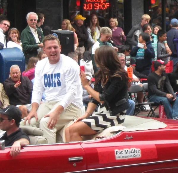 Pat McAfee, Indianapolis Colts, 500 Festival Parade, Indianapolis, 2013