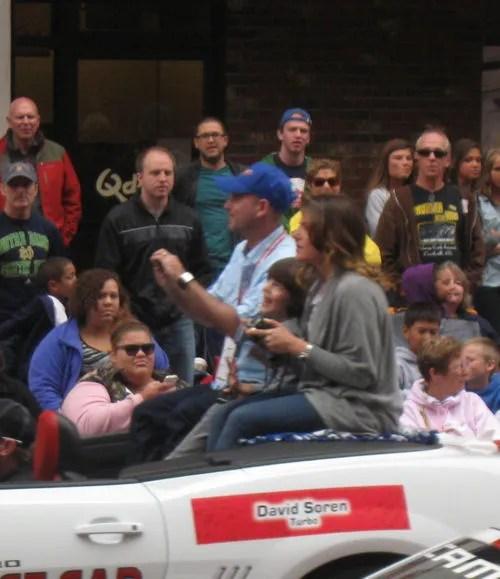 David Soren, Turbo, 500 Festival Parade, Indianapolis, 2013