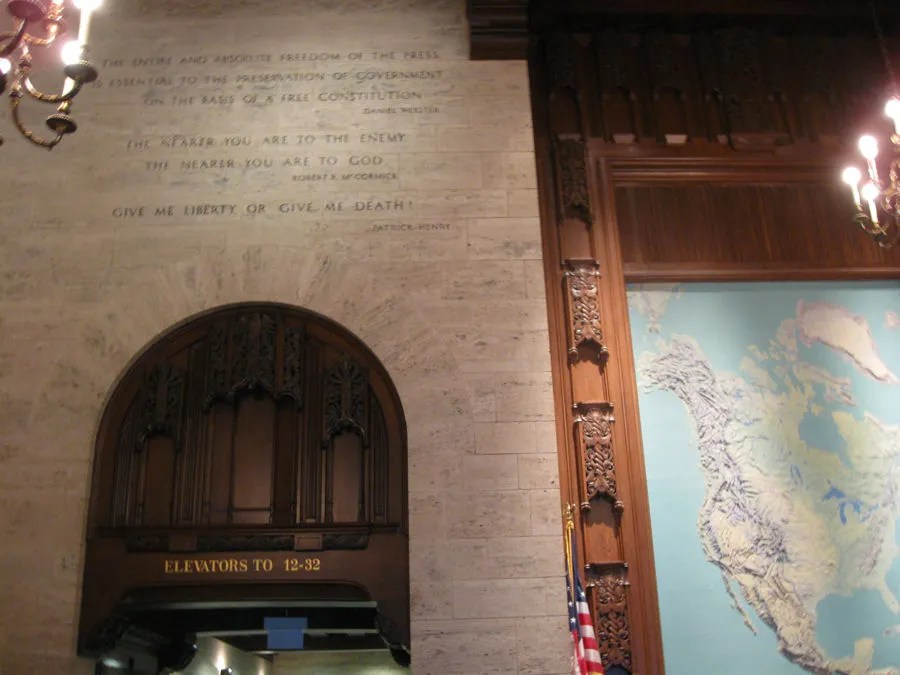 Tribune Tower interior, Chicago