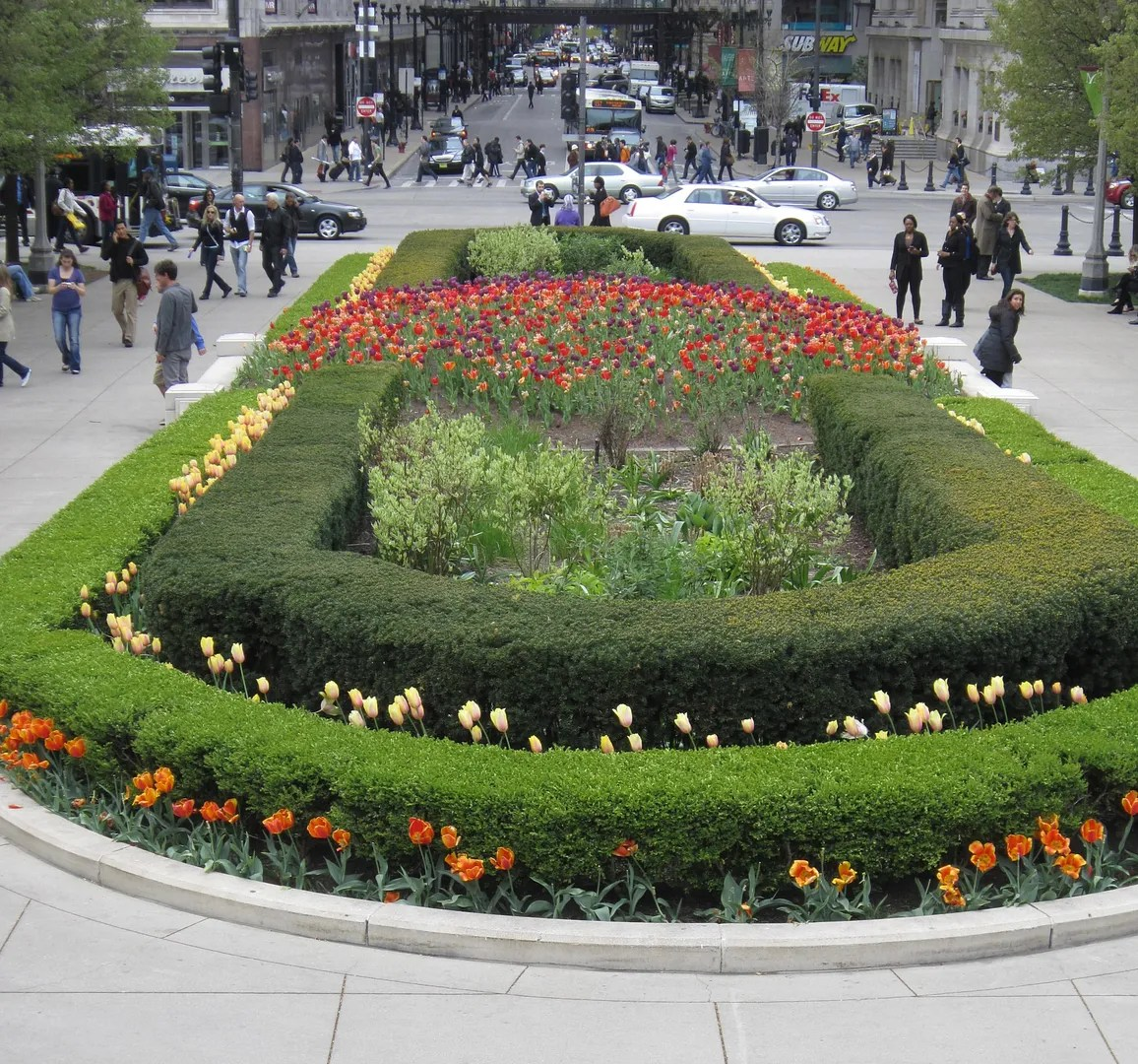 Millennium Park flowers, Chicago