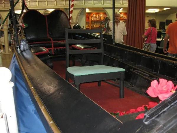 inside gondola interior