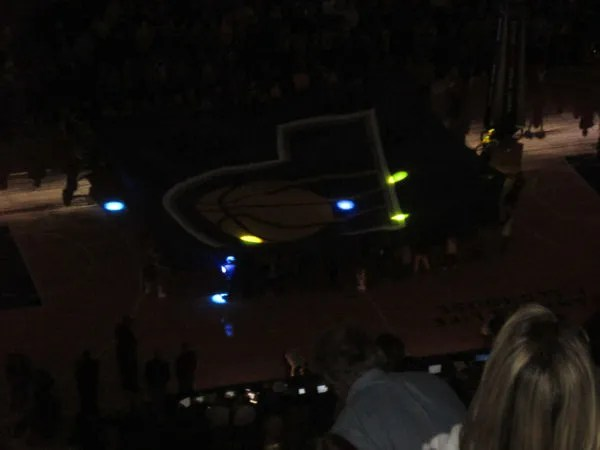 pretty rave lights, Bankers Life Fieldhouse, Indianapolis
