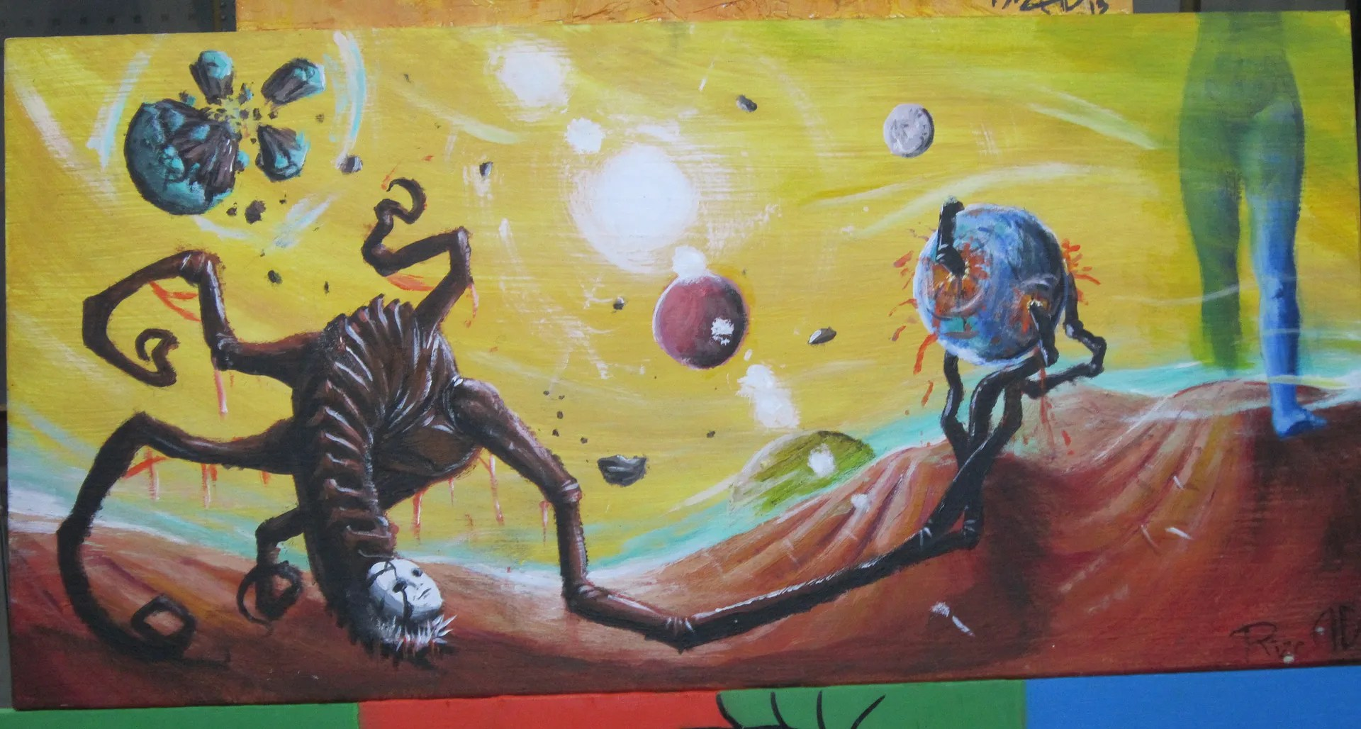 alien worlds, high school art class