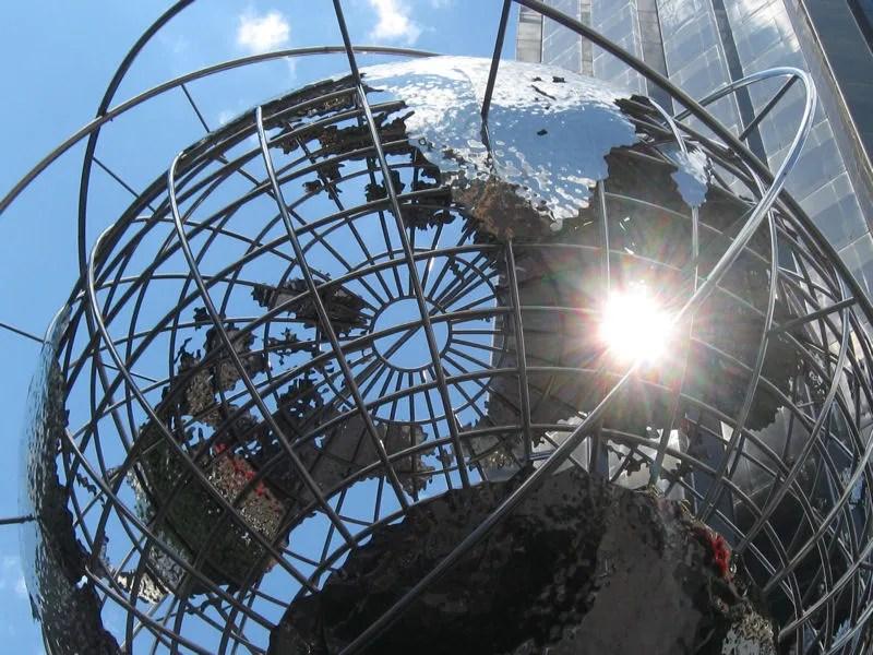 Columbus Circle, globe sculpture, Kim Brandell, Trump Tower, Manhattan