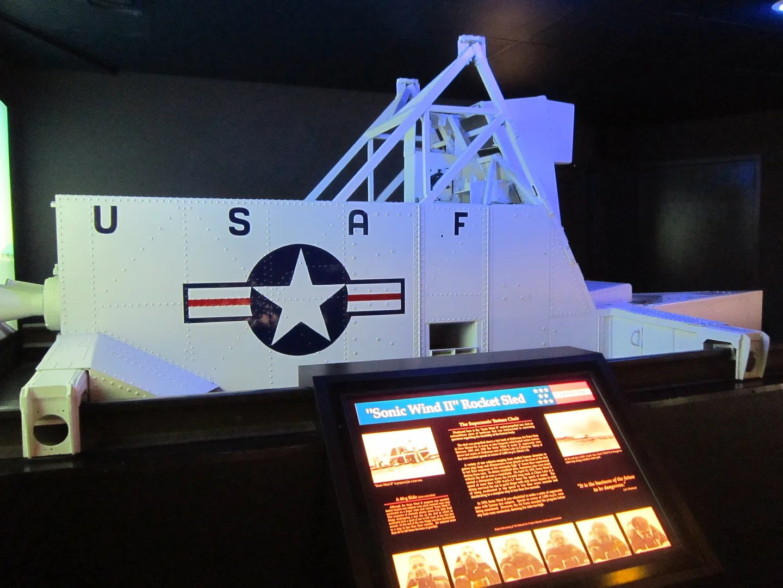 Sonic Wind II rocket sled, Kansas Cosmosphere & Space Center, Hutchinson, Kansas
