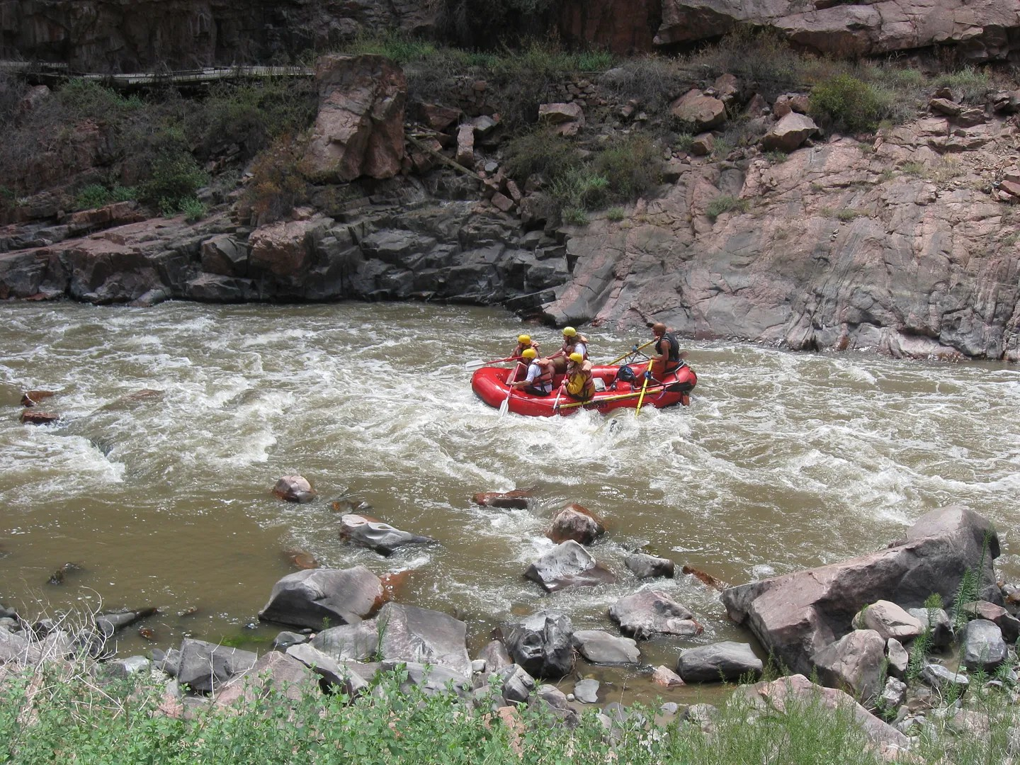 Arkansas River boaters, Royal Gorge, Canon City, Colorado
