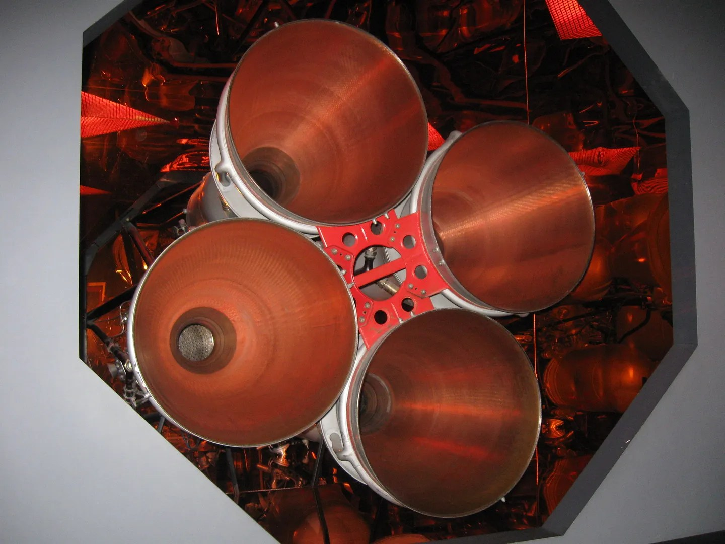 Rocket engine nozzles, Kansas Cosmosphere & Space Center, Hutchinson, Kansas