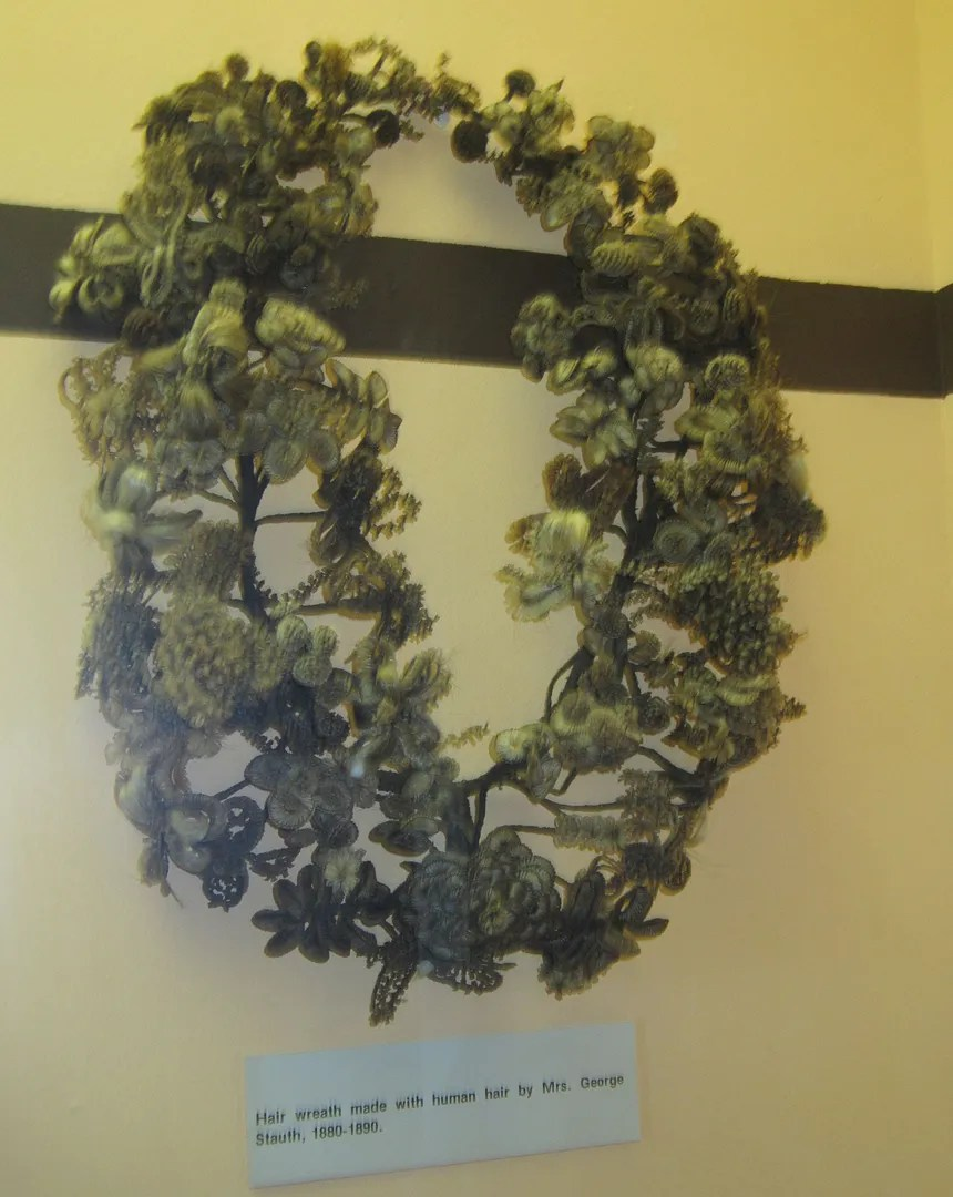 humai hair wreath, Boot Hill Museum, Dodge City, Kansas